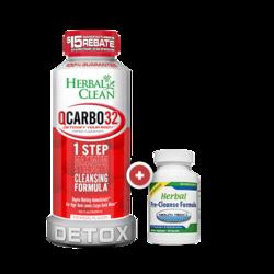 Herbal Clean Qcarbo32 Detox Drink Combo